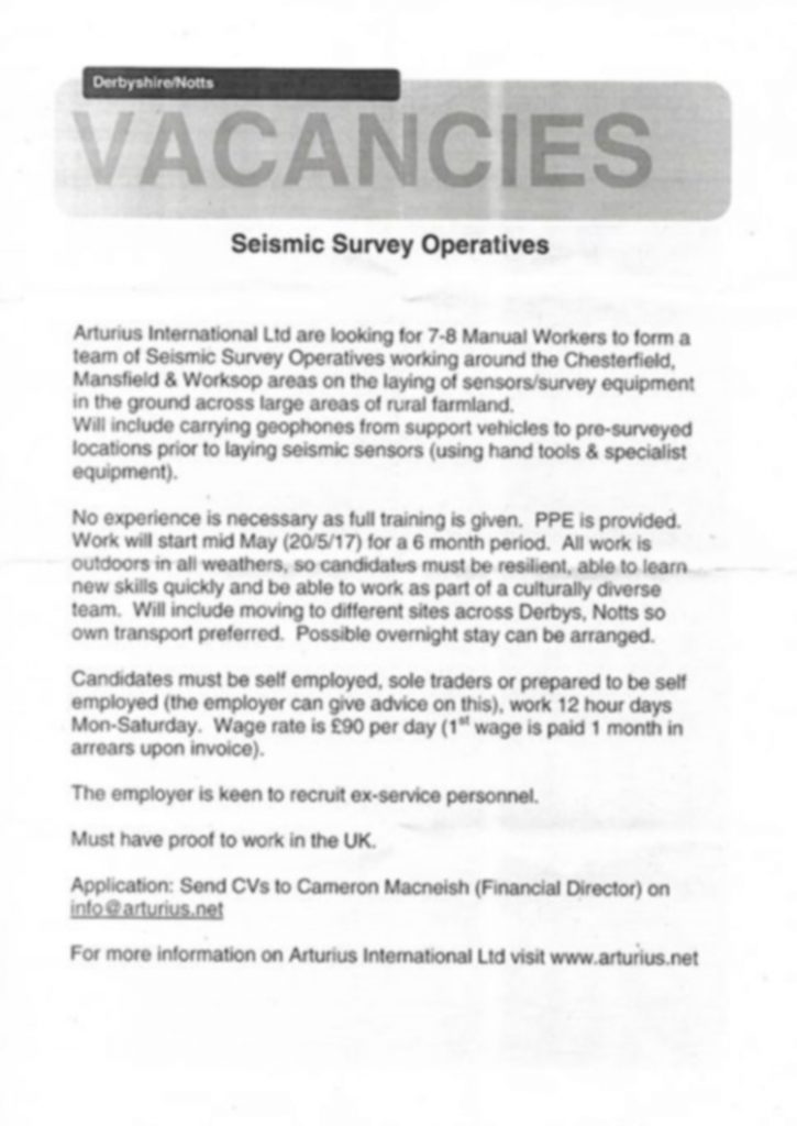 Survey Operatives Advert